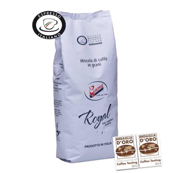 Eriti kõrgekvaliteediline kohvisegu, milles on ühendatud parimad araabika kohviubade omadused. Tulemuseks kohvisegu, millele on iseloomulik tähelepanuväärne kõrvalmaitse, apetiitne välimus ning püsivalt magus maitsenoot. La Genovese Qualita Royal on International Coffee Testing 2012 ja 2014 kuldmedalist.