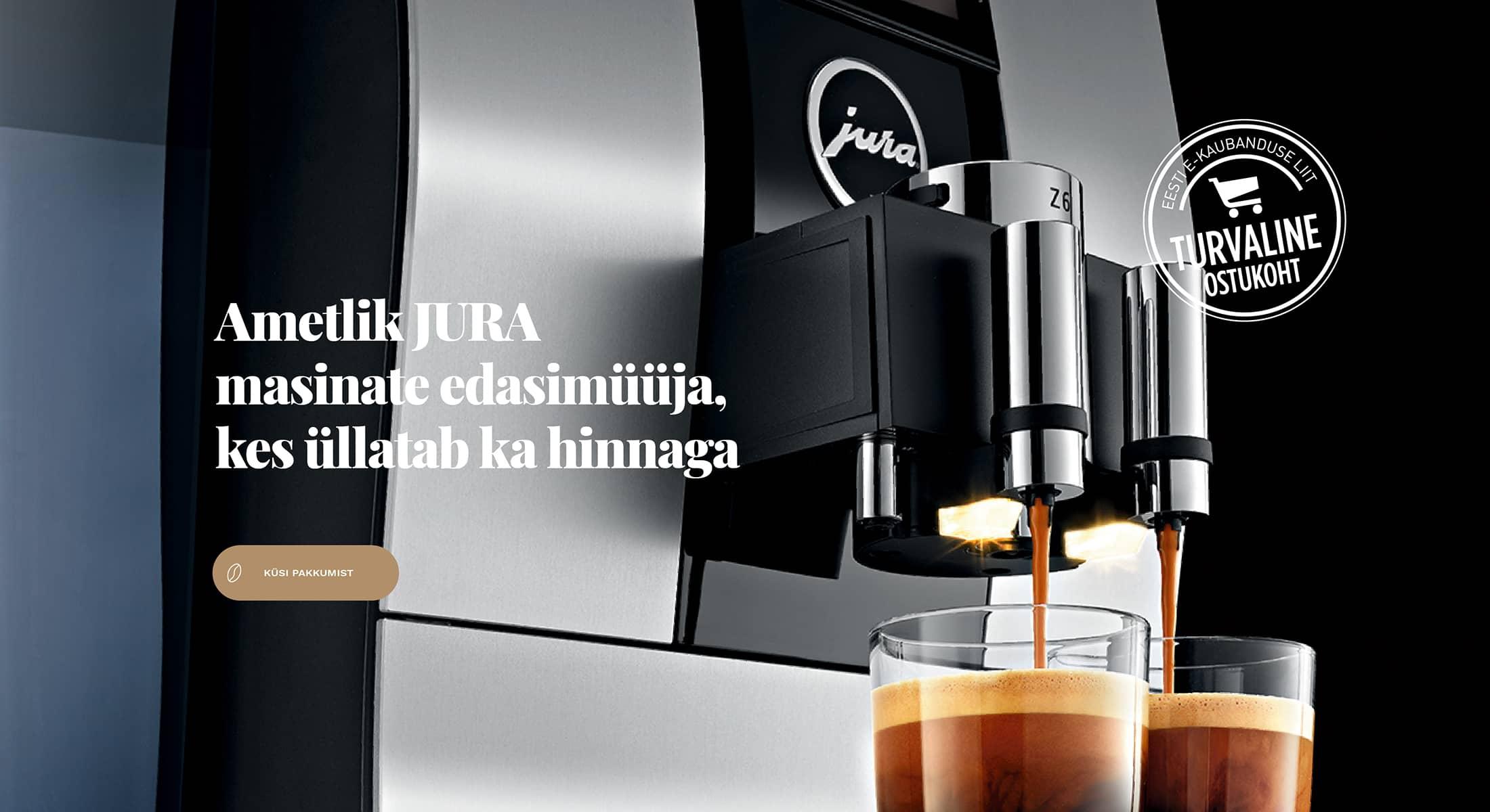 Espresso JURA edasimüüja parima hinnaga